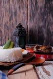 蒸的米 免版税图库摄影