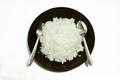 蒸的米 库存照片