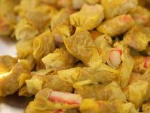蒸的虾饺子 库存照片