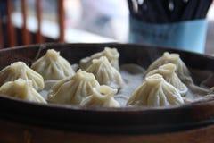 蒸的饺子 图库摄影