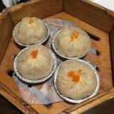 蒸的饺子 免版税库存照片