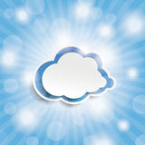 蓝天发出光线蓝色云彩 库存图片