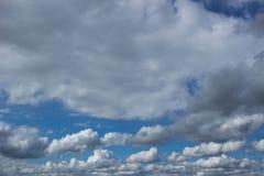 蓝天和云彩天空 免版税图库摄影