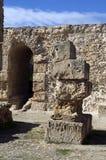 蓝天和废墟在迦太基,突尼斯 免版税库存照片
