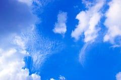 蓝天和白色云彩171019 0218 图库摄影