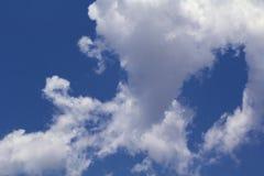 蓝天和空白云彩 图库摄影