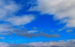 蓝天和空白云彩 免版税库存照片