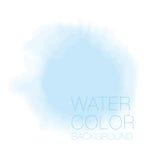 蓝天斑点 水彩背景, 免版税图库摄影
