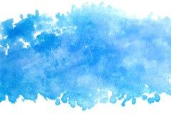 蓝天水彩摘要或难看的东西葡萄酒油漆背景 免版税库存图片