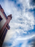 蓝天的清真寺 图库摄影