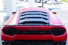 蓝宝坚尼是著名昂贵的汽车品牌汽车 免版税库存图片
