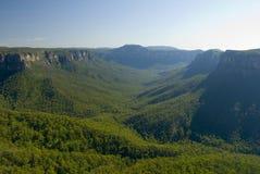 蓝山山脉的美丽如画的图, NSW 库存图片