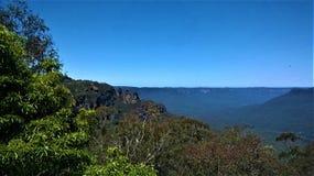 蓝山山脉NSW澳大利亚 库存照片