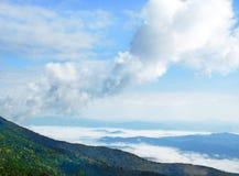 蓝岭山脉早晨风景风景 免版税库存图片