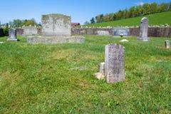 蓝岭山行车通道的,弗吉尼亚,美国剃具公墓 免版税库存照片