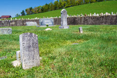 蓝岭山行车通道的,弗吉尼亚,美国剃具公墓 库存图片
