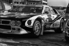 蓝旗亚召集037 1985年在老赛车集会传奇2017年 图库摄影