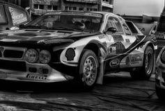 蓝旗亚召集037 1985年在老赛车集会传奇2017年 库存照片