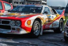 蓝旗亚召集037 1985年在老赛车集会传奇2017年 免版税库存图片