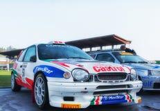 蓝旗亚召集037 1985年在老赛车集会传奇2017年 免版税图库摄影