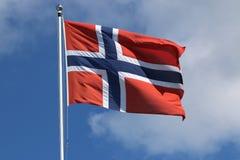 蓝旗信号做挪威红色向量白色 免版税库存图片
