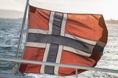蓝旗信号做挪威红色向量白色 免版税库存照片