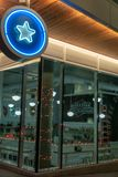 蓝星油炸圈饼 库存图片