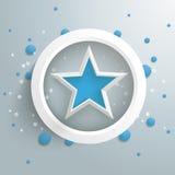 蓝星白色圆环蓝色泡影PiAd 库存图片