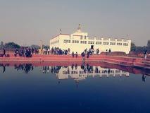 蓝毗尼尼泊尔 库存图片