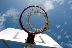 蓝球板篮球净额 免版税库存图片