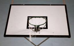 蓝球板篮球篮 免版税库存图片