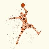 蓝球运动员概念 图库摄影