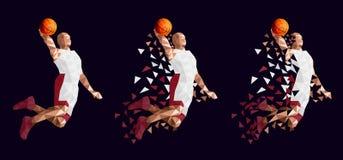 蓝球运动员集合抽象设计 向量例证