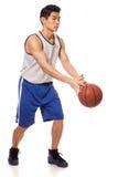 蓝球运动员 库存图片