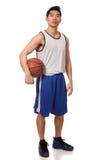 蓝球运动员 免版税图库摄影