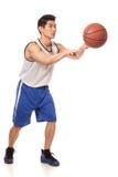 蓝球运动员 免版税库存照片