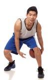 蓝球运动员 库存照片