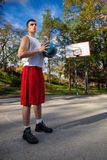 蓝球运动员 图库摄影