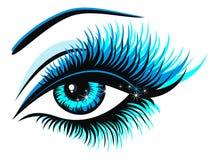 蓝眼睛例证向量 免版税库存照片