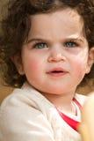蓝眼睛女孩 免版税图库摄影