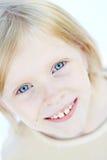 蓝眼睛女孩 库存照片