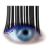 蓝眼睛接近度 免版税库存图片