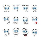 蓝眼睛的情感 免版税库存照片