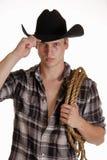 蓝眼睛的牛仔 免版税图库摄影