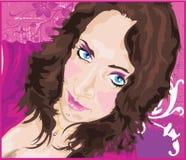 蓝眼睛的秀丽 免版税库存照片
