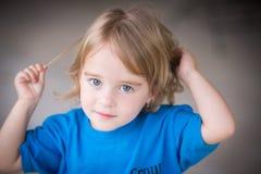 蓝眼睛的秀丽 免版税图库摄影