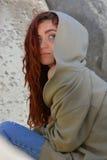 蓝眼睛红头发人 免版税库存照片