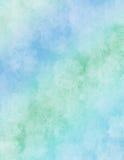蓝纸彩虹水彩 库存图片