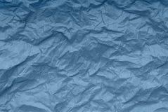 蓝纸背景,创造性的纹理,被弄皱的包装的pap 库存图片
