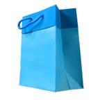 蓝纸袋子 免版税库存图片